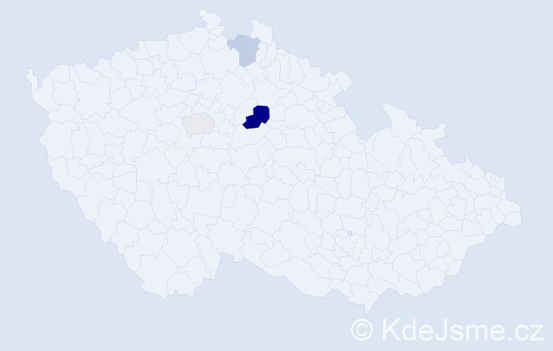 Příjmení: 'Hage', počet výskytů 5 v celé ČR
