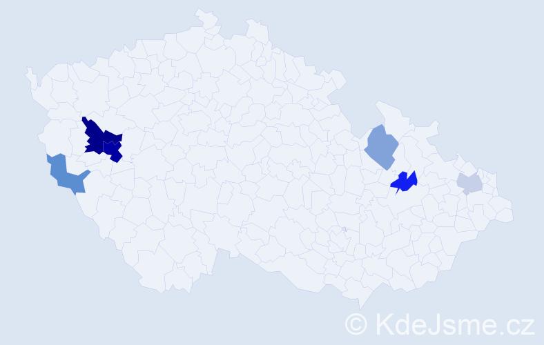 Příjmení: 'Habžanský', počet výskytů 14 v celé ČR