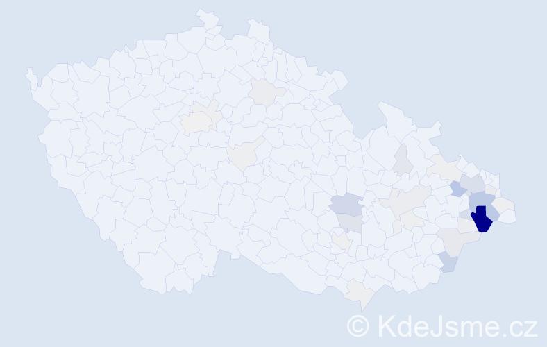 Příjmení: 'Halatová', počet výskytů 137 v celé ČR