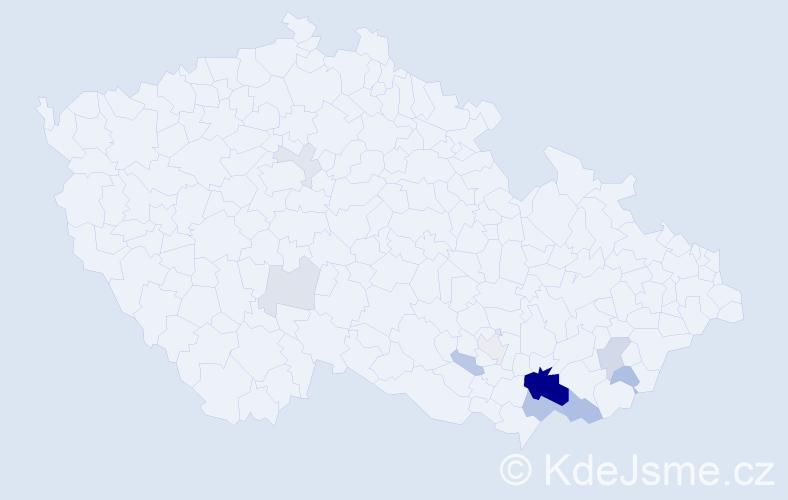 Příjmení: 'Exel', počet výskytů 33 v celé ČR