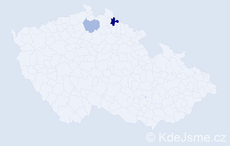 Příjmení: 'Grulišová', počet výskytů 3 v celé ČR
