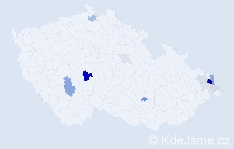 Příjmení: 'Jonsztová', počet výskytů 43 v celé ČR