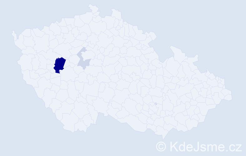 Příjmení: 'Ferschmann', počet výskytů 8 v celé ČR