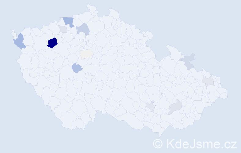 Příjmení: 'Ambrová', počet výskytů 26 v celé ČR