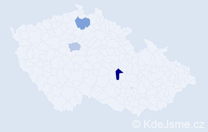 Příjmení: 'Gabla', počet výskytů 6 v celé ČR
