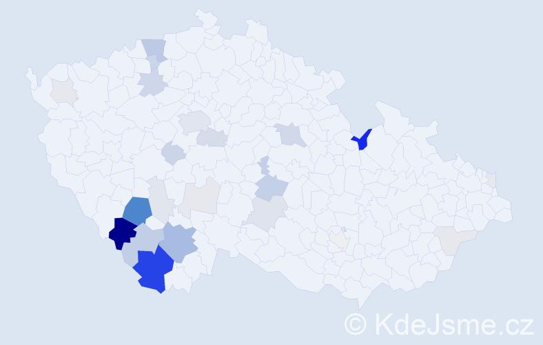 Příjmení: 'Jungvirtová', počet výskytů 98 v celé ČR