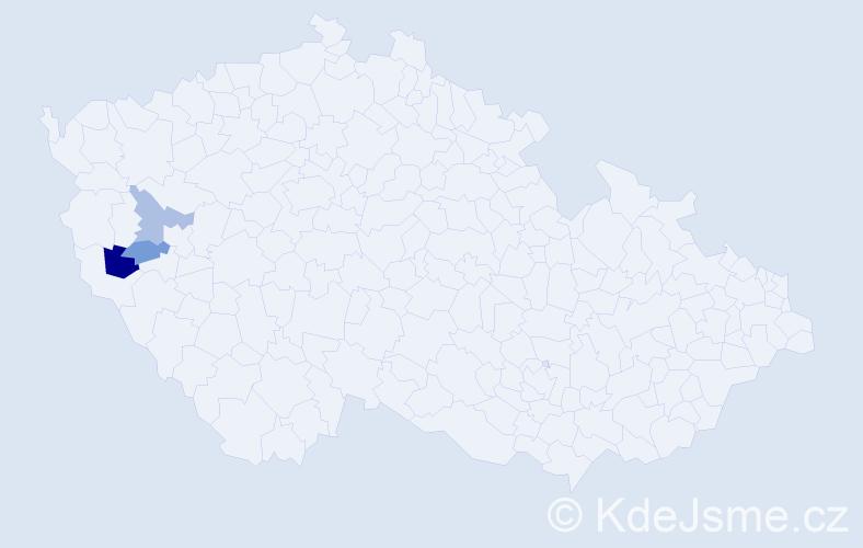 Příjmení: 'Honk', počet výskytů 4 v celé ČR