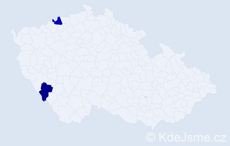 Příjmení: 'Leipelt', počet výskytů 5 v celé ČR