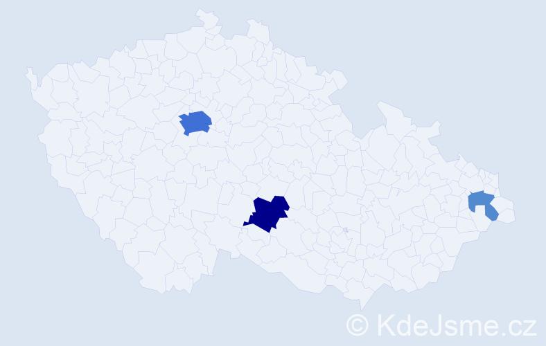 Příjmení: 'Haffnerová', počet výskytů 12 v celé ČR
