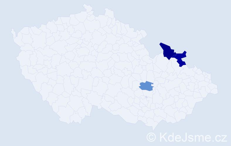 Příjmení: 'Kumarcisová', počet výskytů 5 v celé ČR