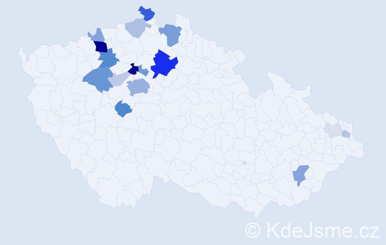 Příjmení: 'Faix', počet výskytů 46 v celé ČR