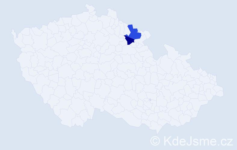 Příjmení: 'Grätzbachová', počet výskytů 5 v celé ČR