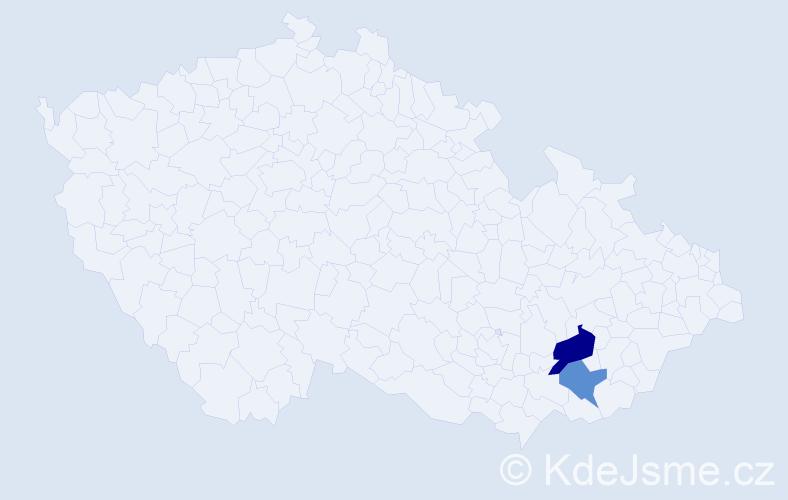 Příjmení: 'Ganglová', počet výskytů 3 v celé ČR
