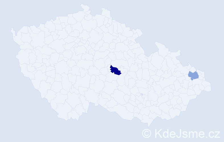 Příjmení: 'Činčilová', počet výskytů 6 v celé ČR