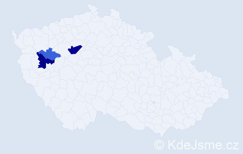 Příjmení: 'Blaňár', počet výskytů 12 v celé ČR