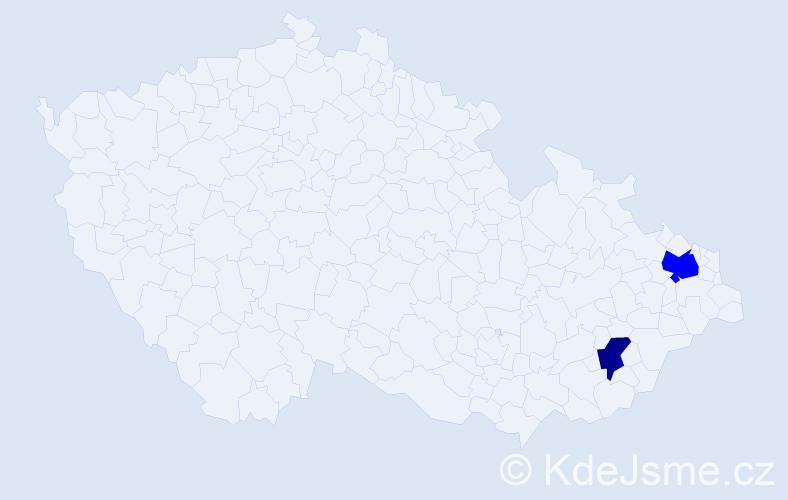 Příjmení: 'Bangievský', počet výskytů 3 v celé ČR