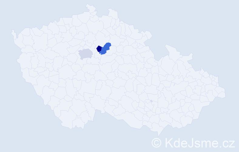 Příjmení: 'Cykánek', počet výskytů 4 v celé ČR