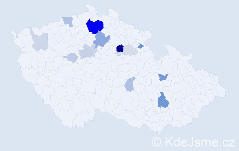 Příjmení: 'Leinerová', počet výskytů 38 v celé ČR