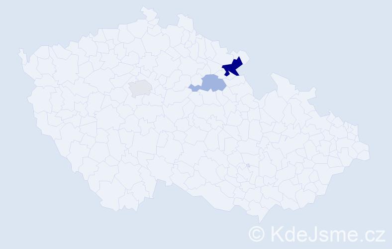 Příjmení: 'Eimer', počet výskytů 11 v celé ČR