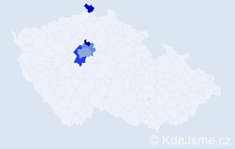 Příjmení: 'Brunhofer', počet výskytů 19 v celé ČR