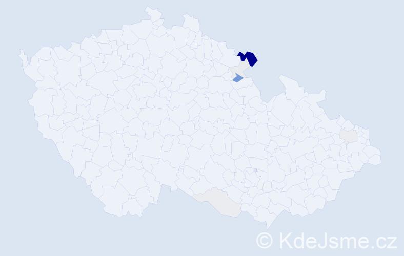 Příjmení: 'Cvikýřová', počet výskytů 23 v celé ČR