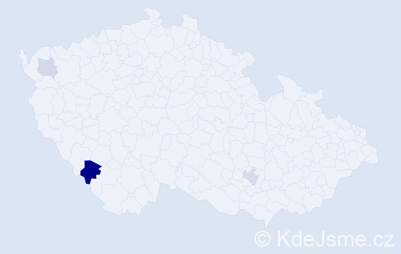 Příjmení: 'Folvarčíková', počet výskytů 8 v celé ČR
