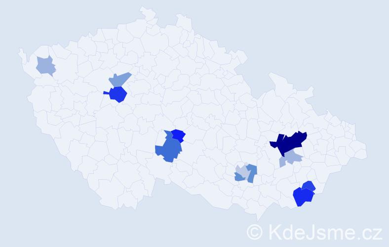 Příjmení: 'Herinek', počet výskytů 27 v celé ČR