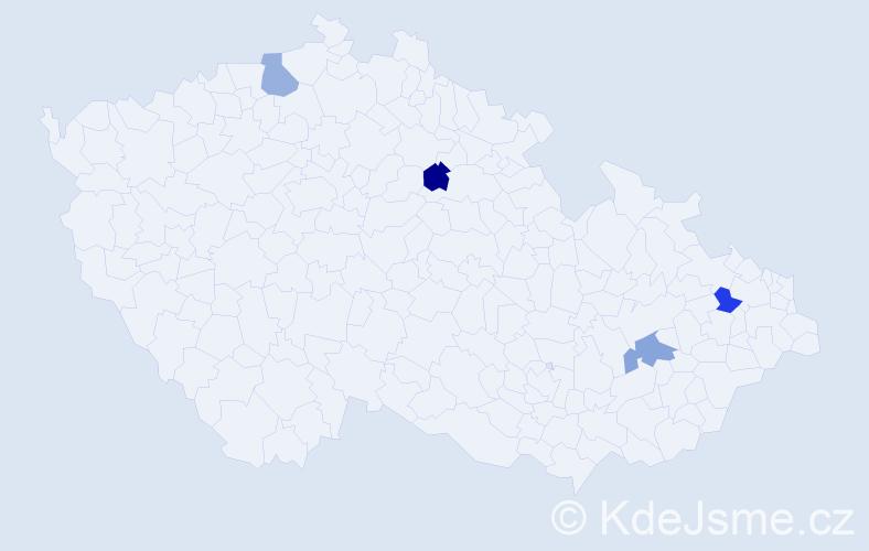 Příjmení: 'Jarabek', počet výskytů 4 v celé ČR