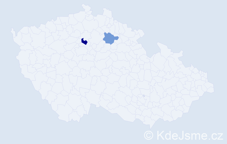 Příjmení: 'Chodějovská', počet výskytů 3 v celé ČR