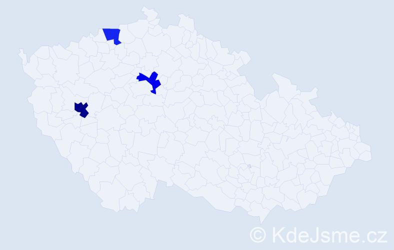 Příjmení: 'Čmil', počet výskytů 4 v celé ČR