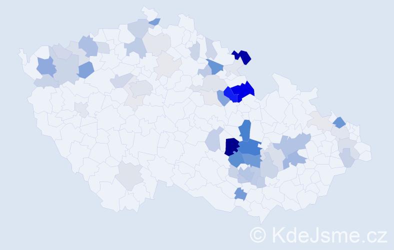 Příjmení: 'Hamerská', počet výskytů 199 v celé ČR