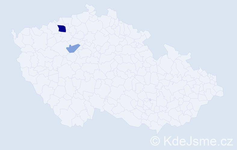 Příjmení: 'Glevaňák', počet výskytů 4 v celé ČR