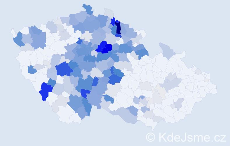 Příjmení: 'Jechová', počet výskytů 902 v celé ČR
