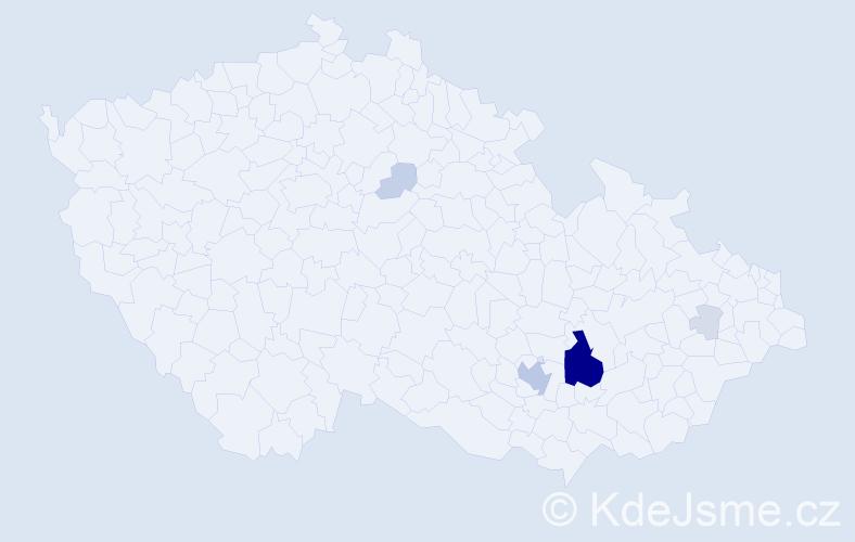 Příjmení: 'Babyrád', počet výskytů 29 v celé ČR