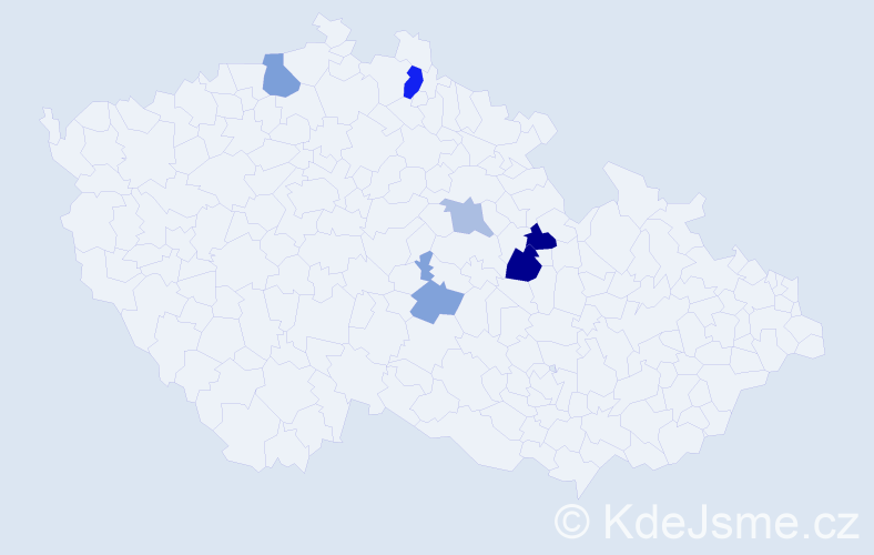 Příjmení: 'Bäuchel', počet výskytů 11 v celé ČR