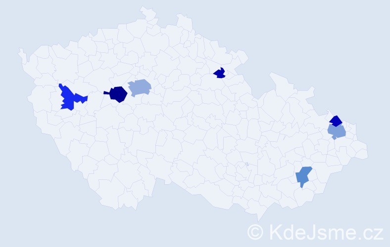 Příjmení: 'Dabrowski', počet výskytů 20 v celé ČR
