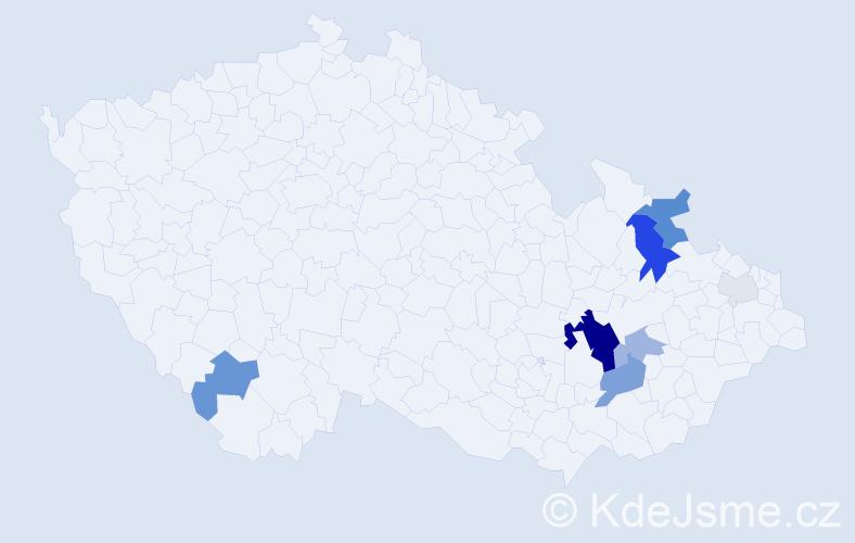 Příjmení: 'Antel', počet výskytů 28 v celé ČR