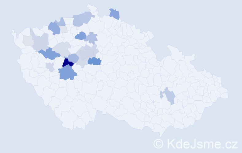 Příjmení: 'Kubricht', počet výskytů 81 v celé ČR