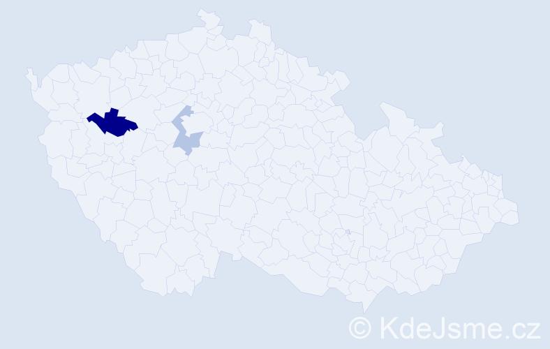Příjmení: 'Epikaridisová', počet výskytů 3 v celé ČR
