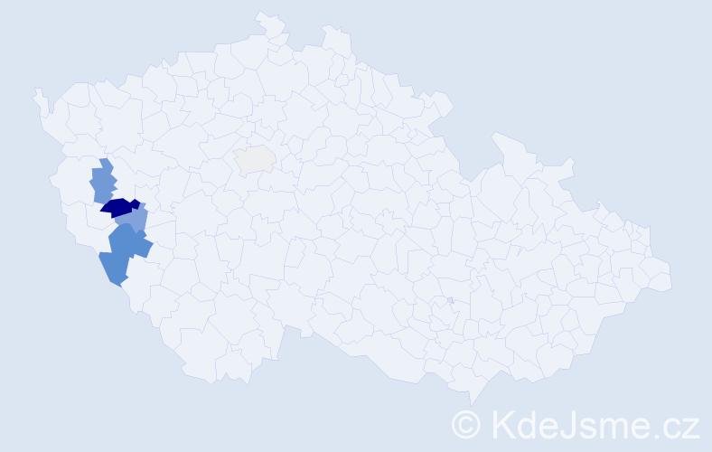 Příjmení: 'Hajdúk', počet výskytů 11 v celé ČR