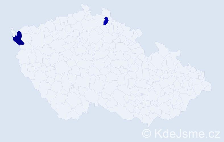 Příjmení: 'Illingerová', počet výskytů 2 v celé ČR