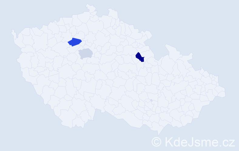 Příjmení: 'Inguortová', počet výskytů 4 v celé ČR
