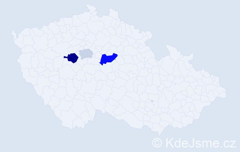 Příjmení: 'Justizová', počet výskytů 3 v celé ČR