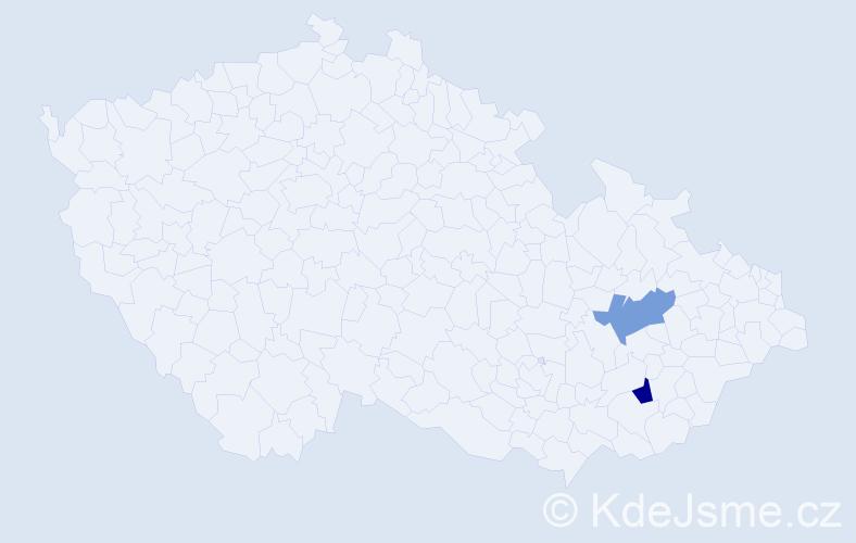 Příjmení: 'Hrisidu', počet výskytů 2 v celé ČR