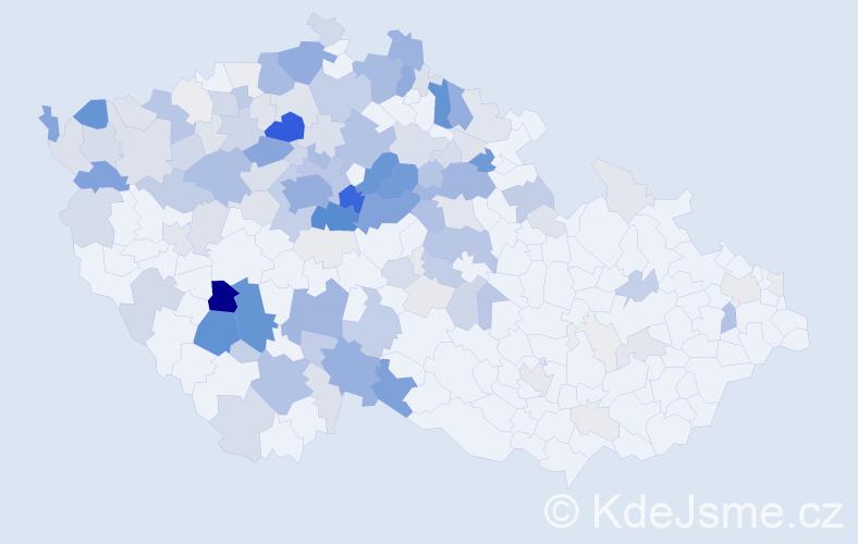 Příjmení: 'Hrouda', počet výskytů 570 v celé ČR