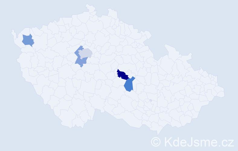 Příjmení: 'Deyssig', počet výskytů 6 v celé ČR