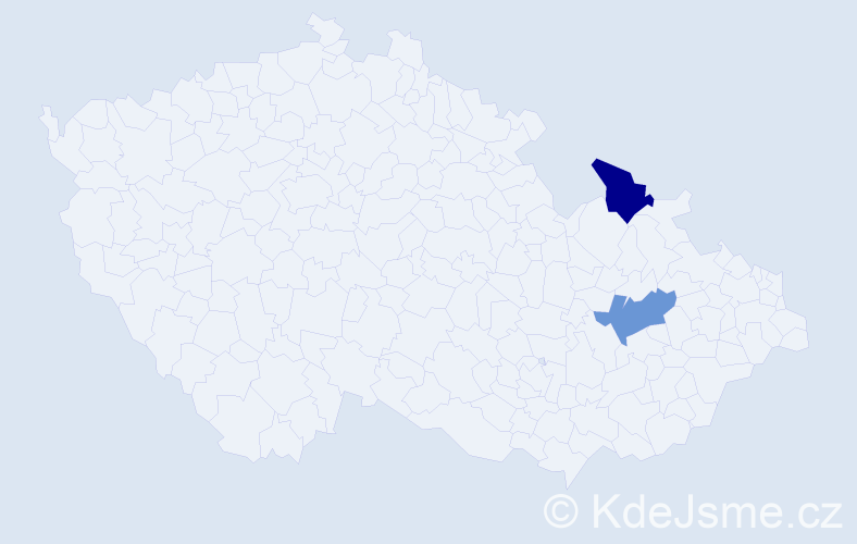 Příjmení: 'Geras', počet výskytů 2 v celé ČR