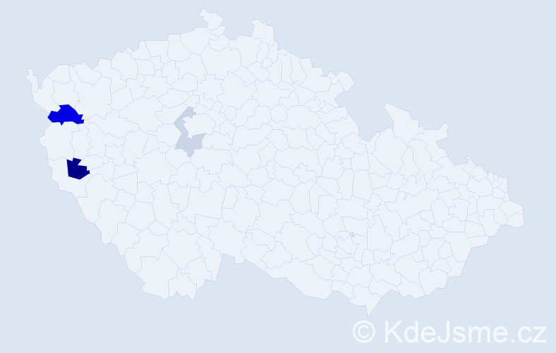 Příjmení: 'Brichzin', počet výskytů 6 v celé ČR