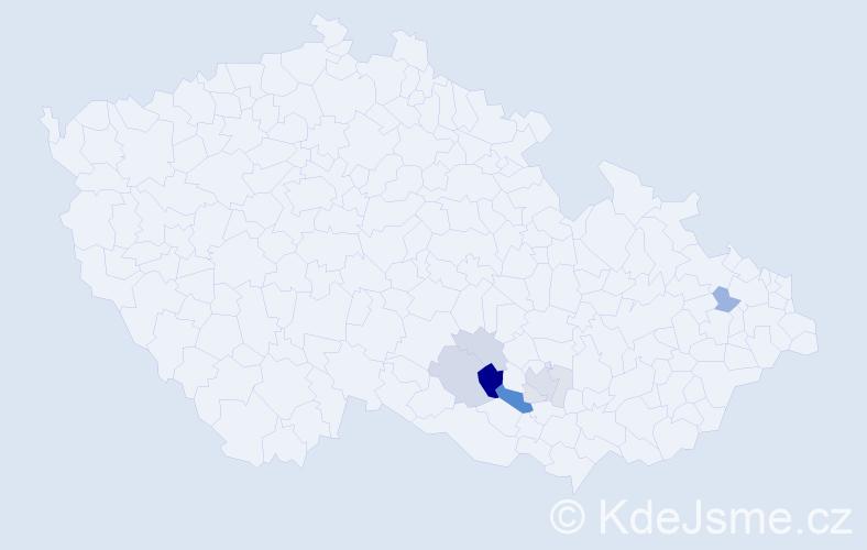 Příjmení: 'Bábuněk', počet výskytů 22 v celé ČR