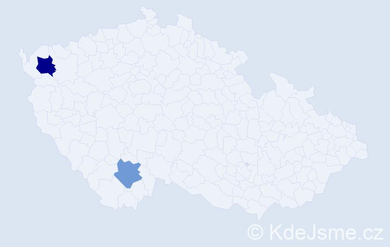 Příjmení: 'Leong', počet výskytů 3 v celé ČR